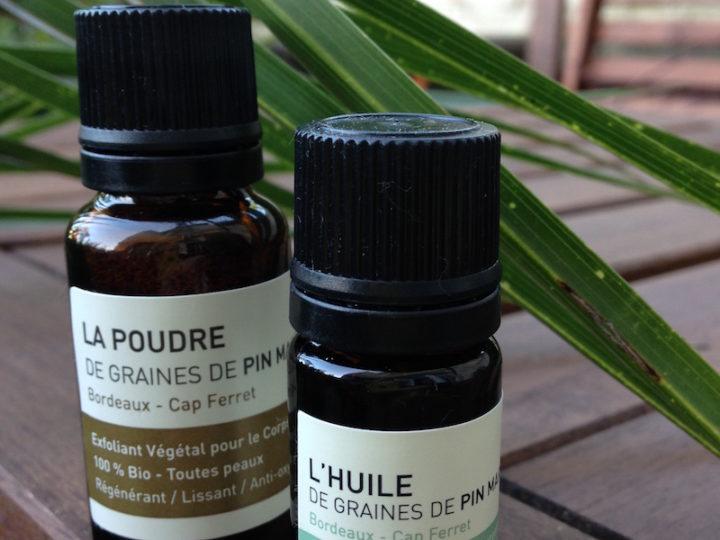 Huile visage et poudre exfoliante de graines de pin maritime – Océopin