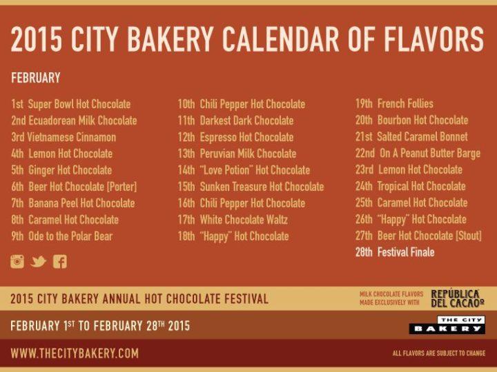 Le Hot Chocolate Festival City Bakery de New York